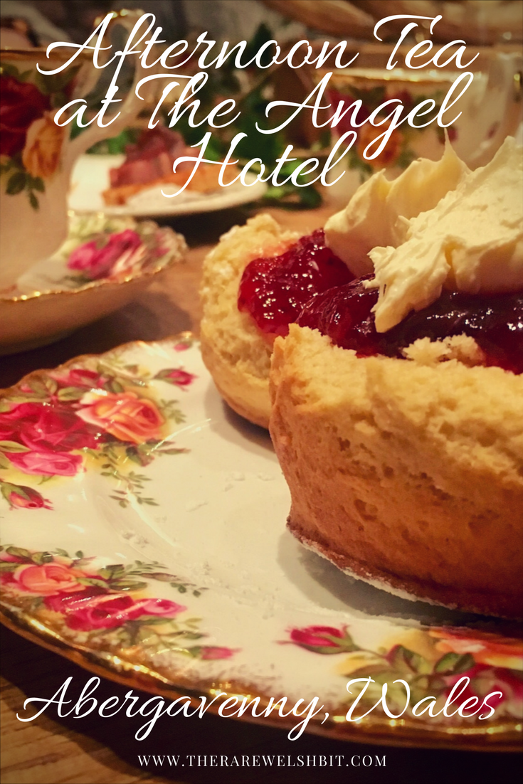 Afternoon tea at The Angel Hotel in Abergavenny, Wales