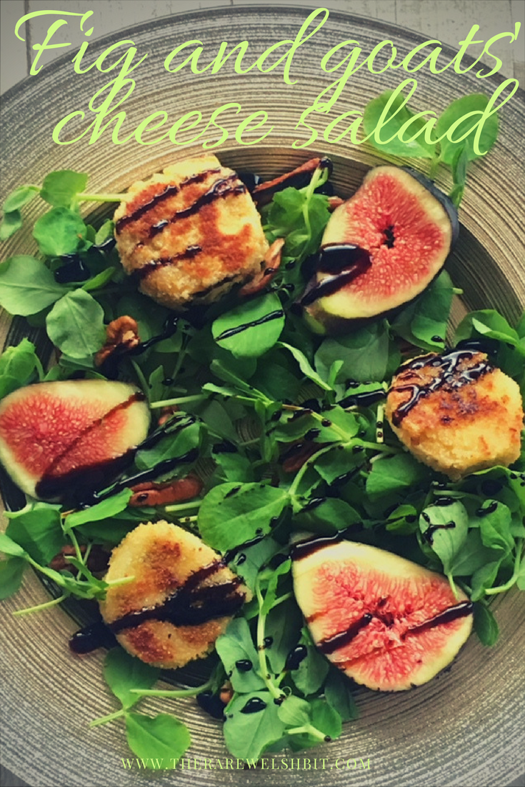 Fig and goats' cheese salad