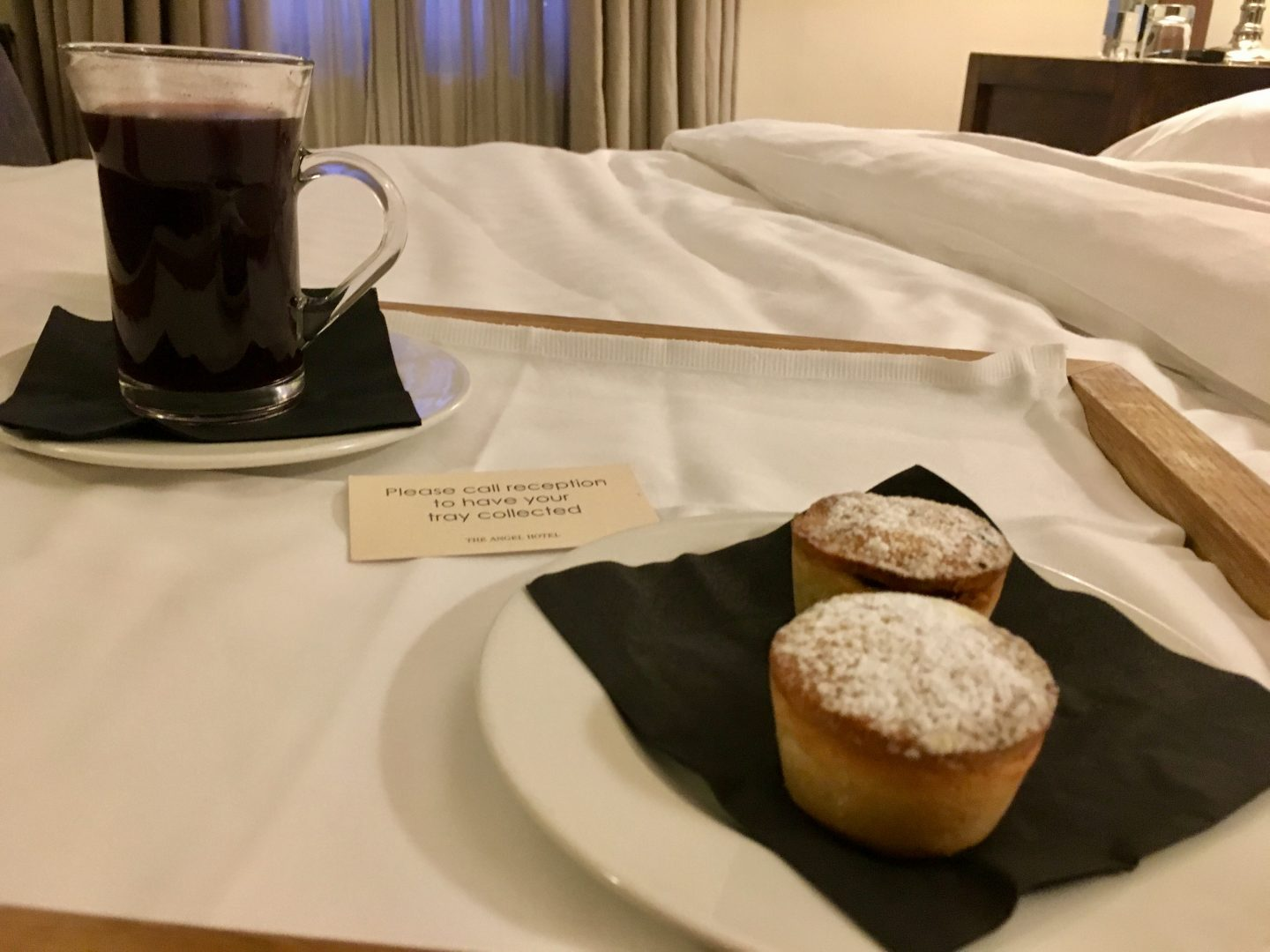 Mince pies and mulled wine at The Angel Hotel