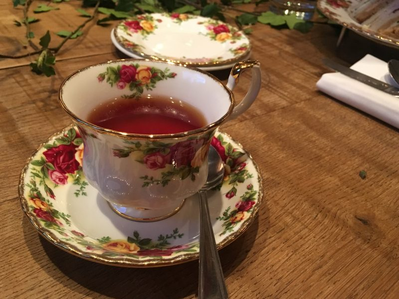 Tea served as part of afternoon tea at The Angel Hotel, Abergavenny