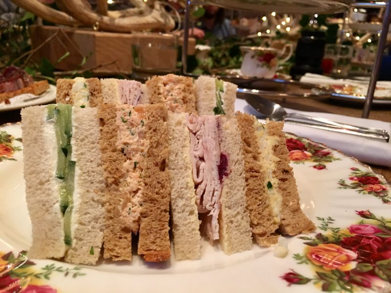 Sandwiches for Afternoon tea at The Angel Hotel, Abergavenny