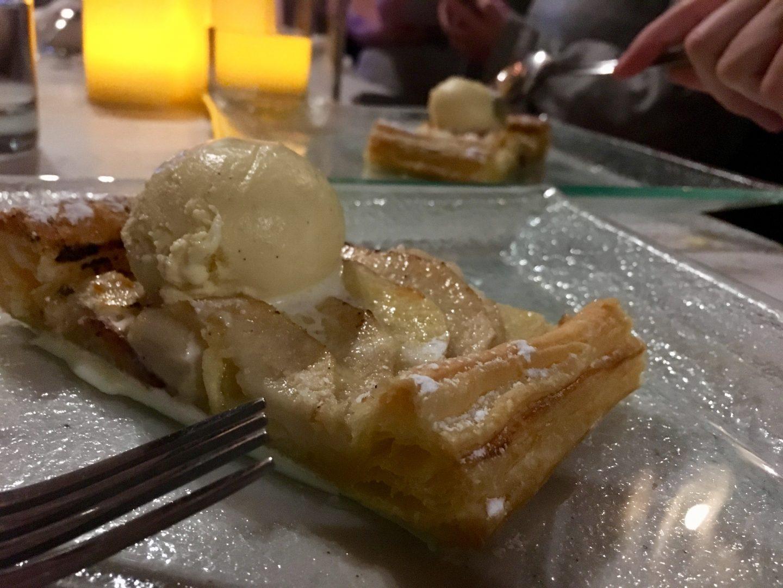 Apple tart at The Angel Hotel