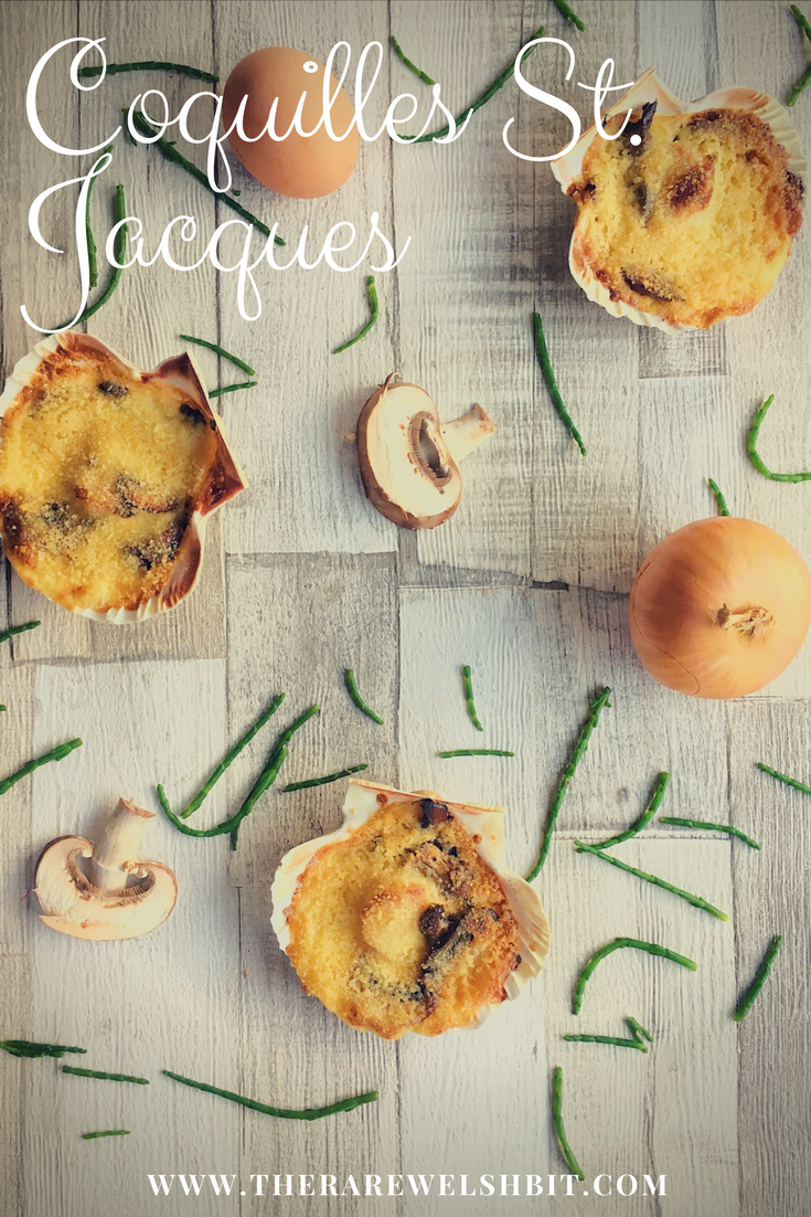 Perhaps one of the most indulgent of all French scallop recipes, Coquilles St. Jacques recipe consists of scallops in a rich, creamy white wine and mushroom sauce, topped with breadcrumbs and baked until golden.