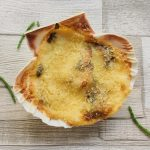 Coquilles St Jacques, photographed from above