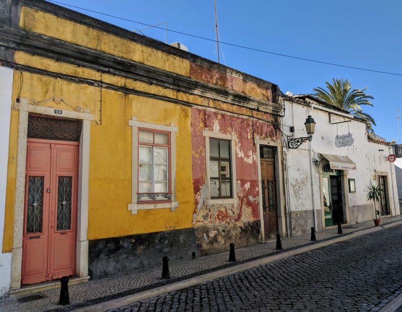 A street in Faro in the Algarve, Portugal