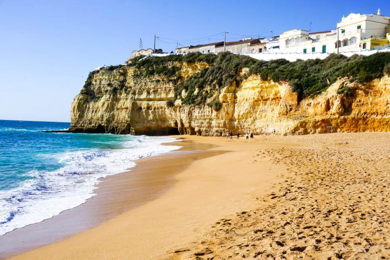 The cliffs at Carvoeiro beach