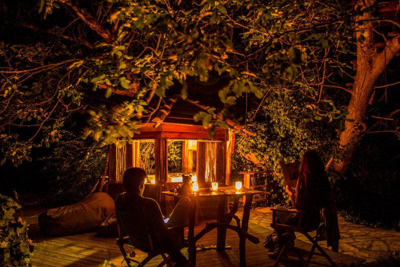 Staying in a tree house in Aljezur in the Algarve, Portugal