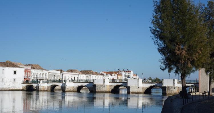 River Gilao in Tavira in the Algarve, Portugal