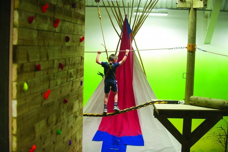 The Sky Trail in the Adventure Centre at Bluestone Wales