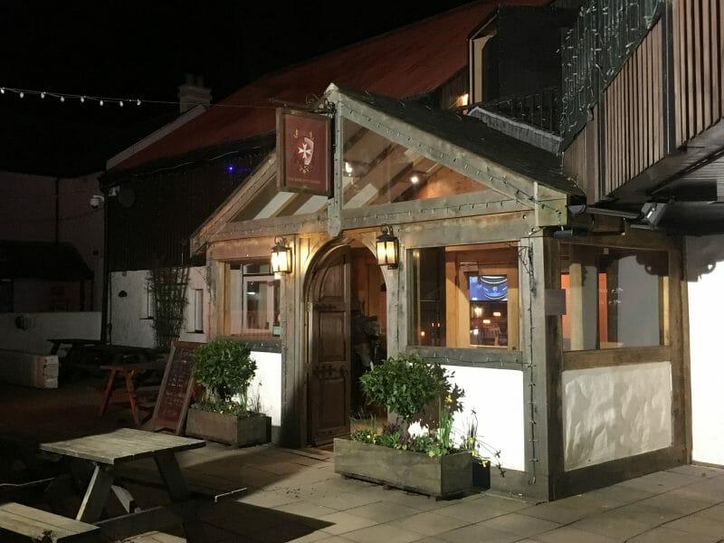 Exterior of Knight's Tafarn pub at Bluestone Wales