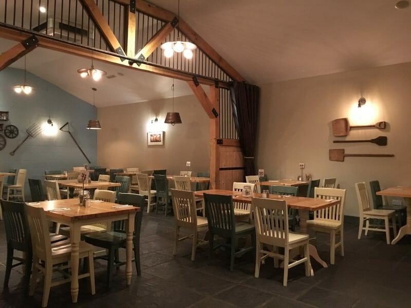 The interior of the Farmhouse Grill restaurant at Bluestone Wales