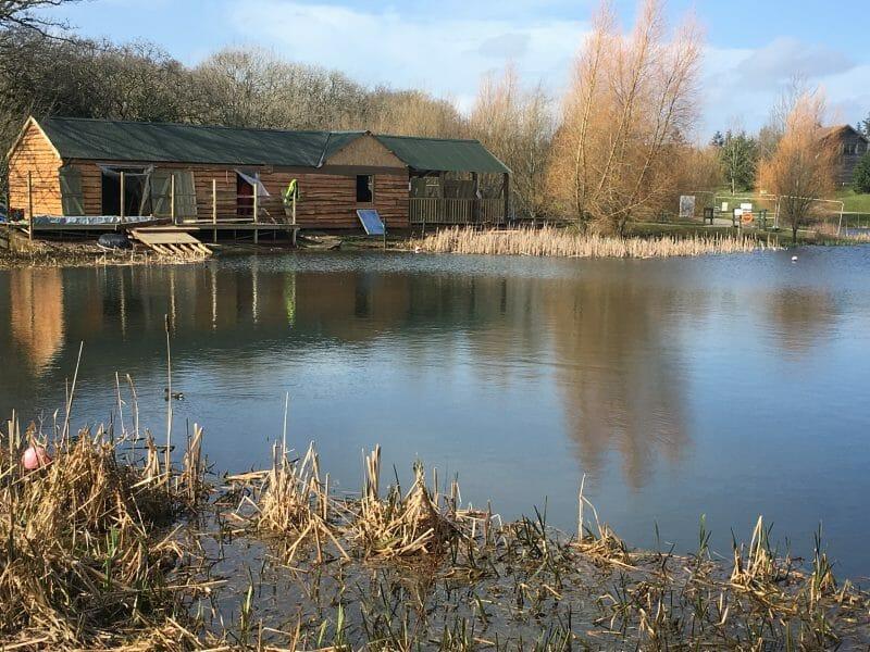 The lake at Bluestone Wales