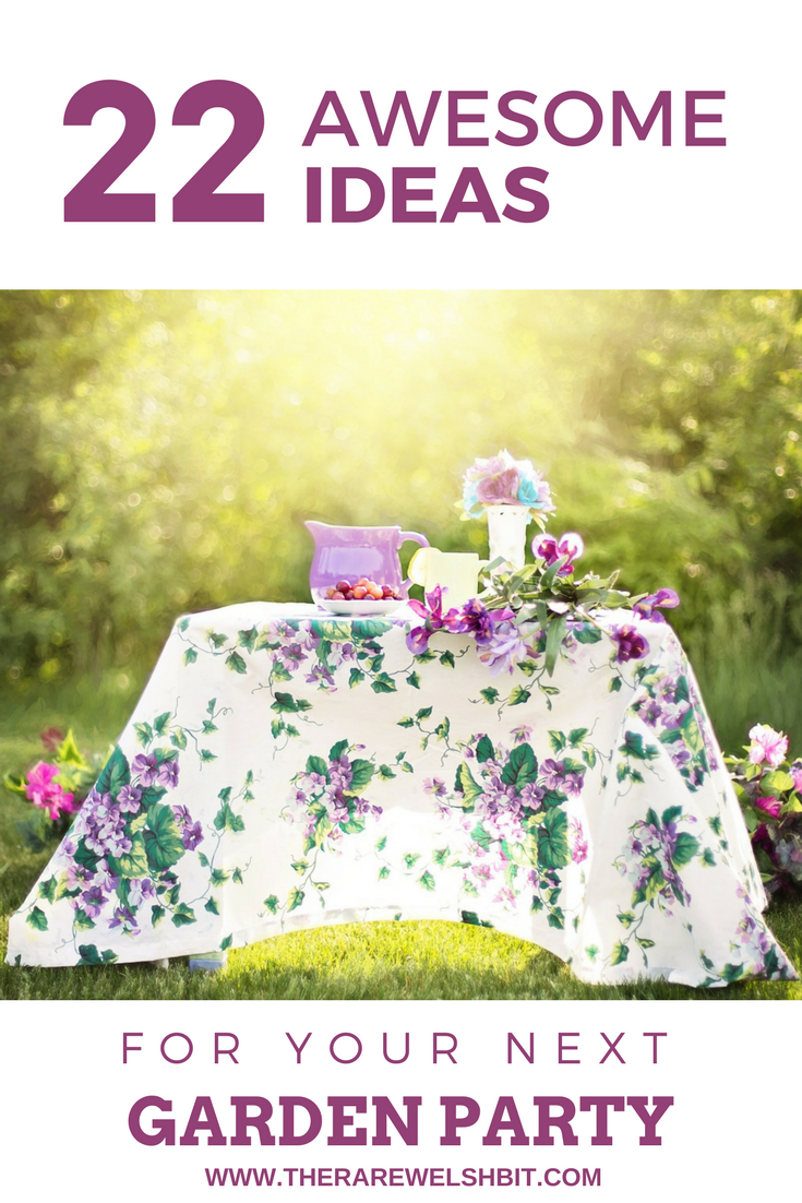 22 awesome ideas for your next summer party outdoors in the garden, from decorations, drinks and outfits, to food, games and themes. #summerparty #gardenparty #summerpartyideas #diygardenparty