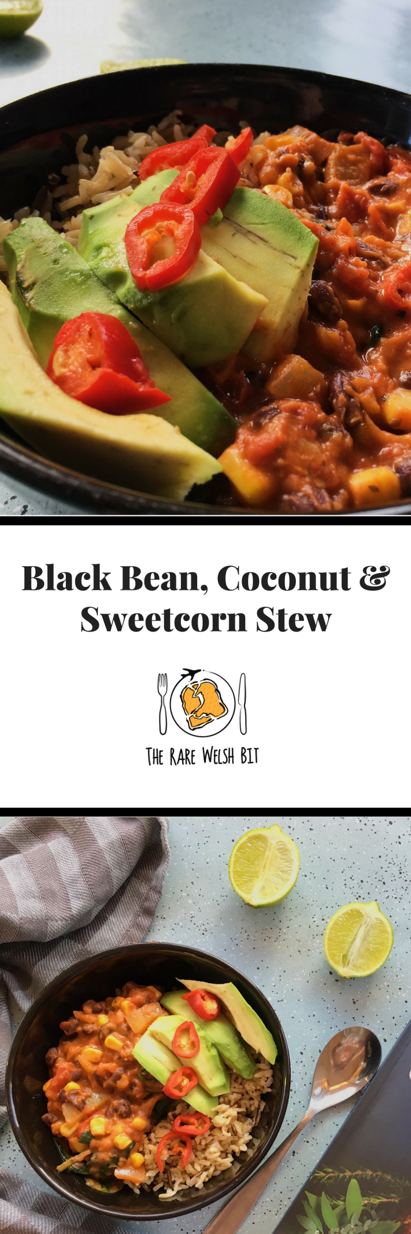 Black Bean, Coconut and Sweetcorn Stew