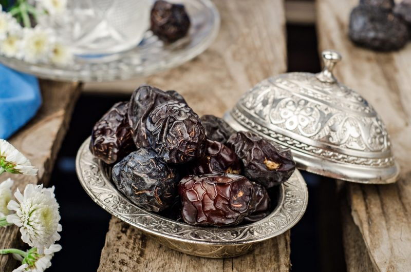 Dates - traditionally served with fruit and yoghurt to break a fast during Ramadan