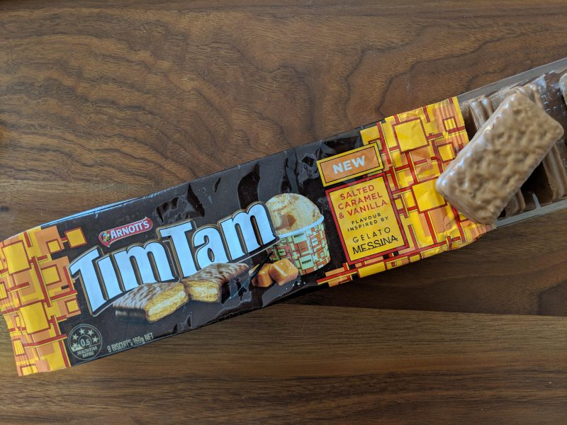A packet of Australian Tim Tams