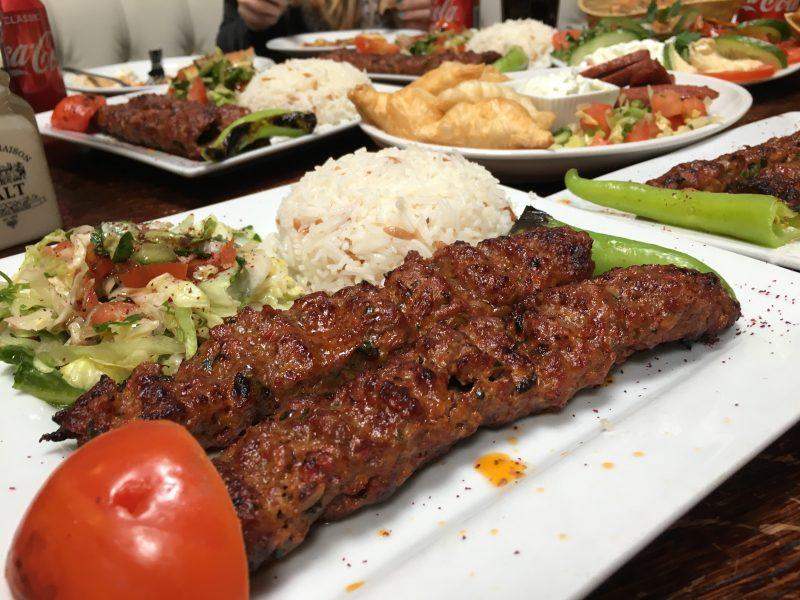 Adana lamb kebabs at Saray Cardiff Turkish restaurant