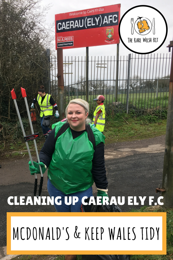 A spring clean at Caerau Ely. FC., Cardiff with a sponsored litter pick with McDonald's and Keep Wales Tidy, including photography. This is part of McDonald's wider work on waste management in the local environment, aiming to increase recycling and send more plastic waste to landfill. #environment #urban #litter #waste #plastic #packaging #cardiff #mcdonalds #keepwalestidy #springcleancymru
