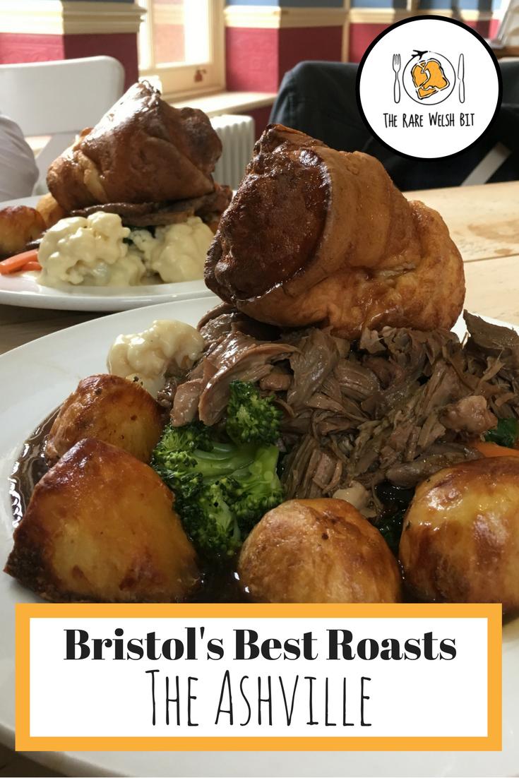 Sunday roast dinner at The Ashville, Bristol offers a choice of pork, beef, lamb or vegetarian/vegan options like nut roast - the perfect spot for a traditional English Sunday lunch. #sundayroast #sundaylunch #roastlamb #yorkshirepudding #brtitishfood #ukfood #traditionalfoods #englishfood