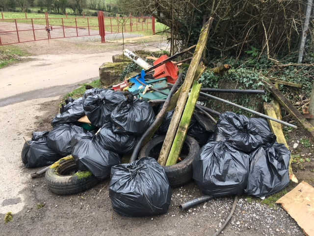Black bags and bulky waste collected at the litter pick organised by McDonald's Cardiff and Keep Wales Tidy