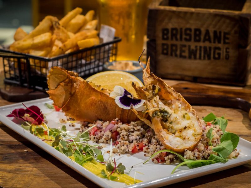 Moreton Bay Bugs in Brisbane, Australia at the Brisbane Brewing Co.