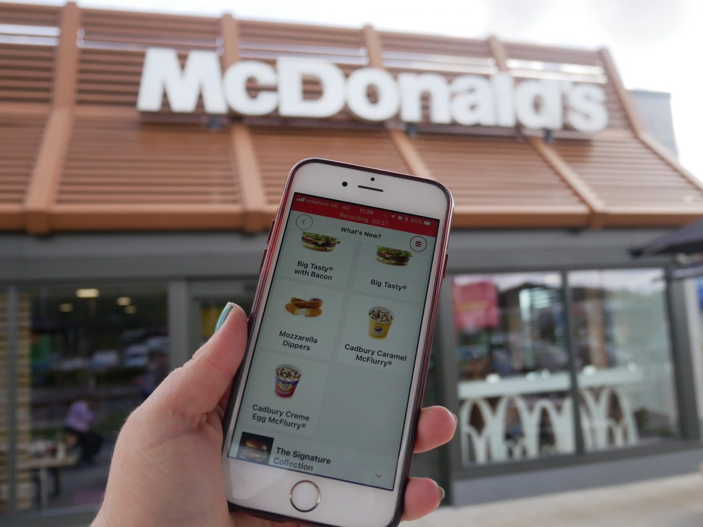 How to order Mcdonald's via the app