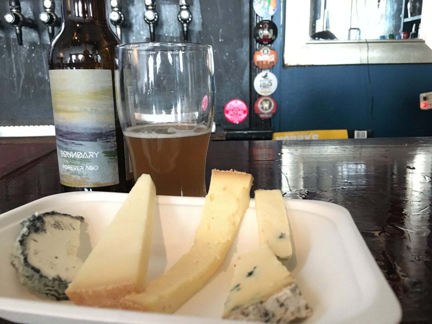 Beer and cheese tasting