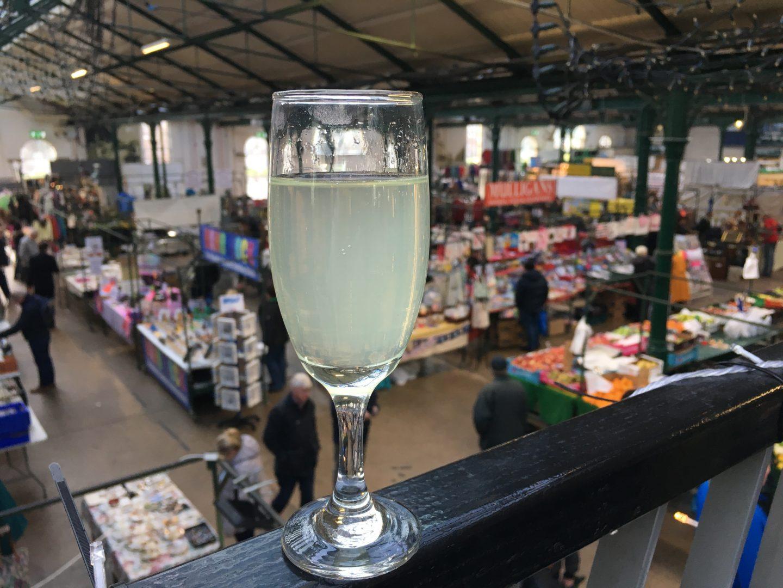 Apple juice at St. George's Market