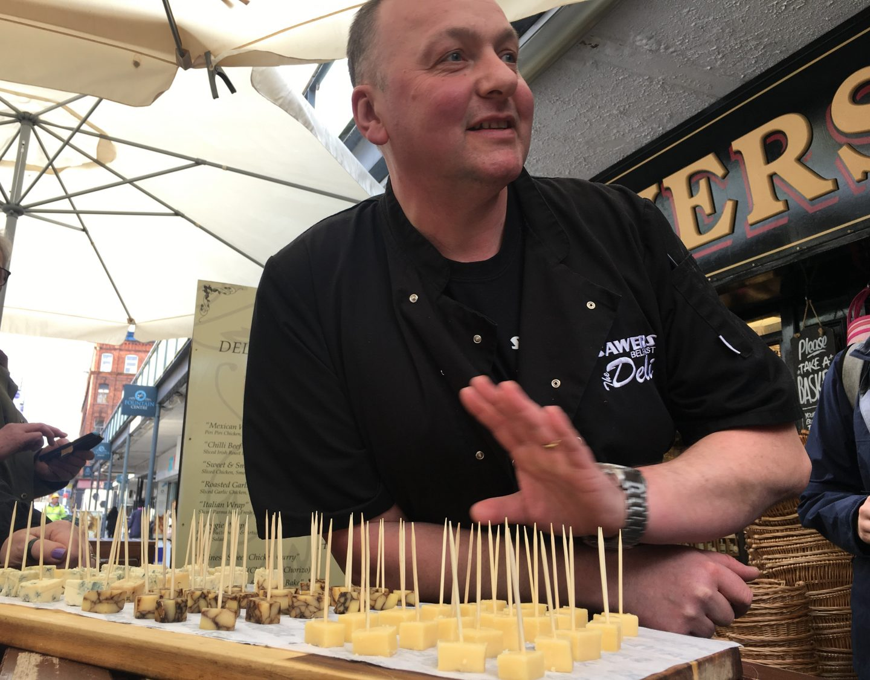 Cheese-tasting at Sawers Belfast