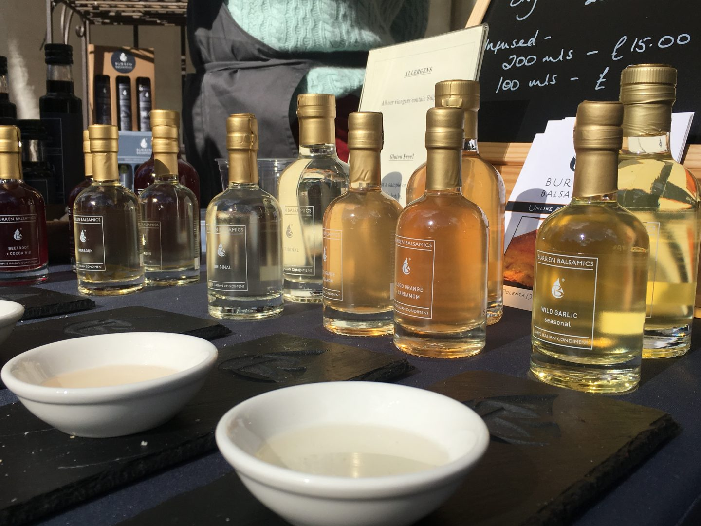 Oils on display at BelFeast Food and Drink Festival