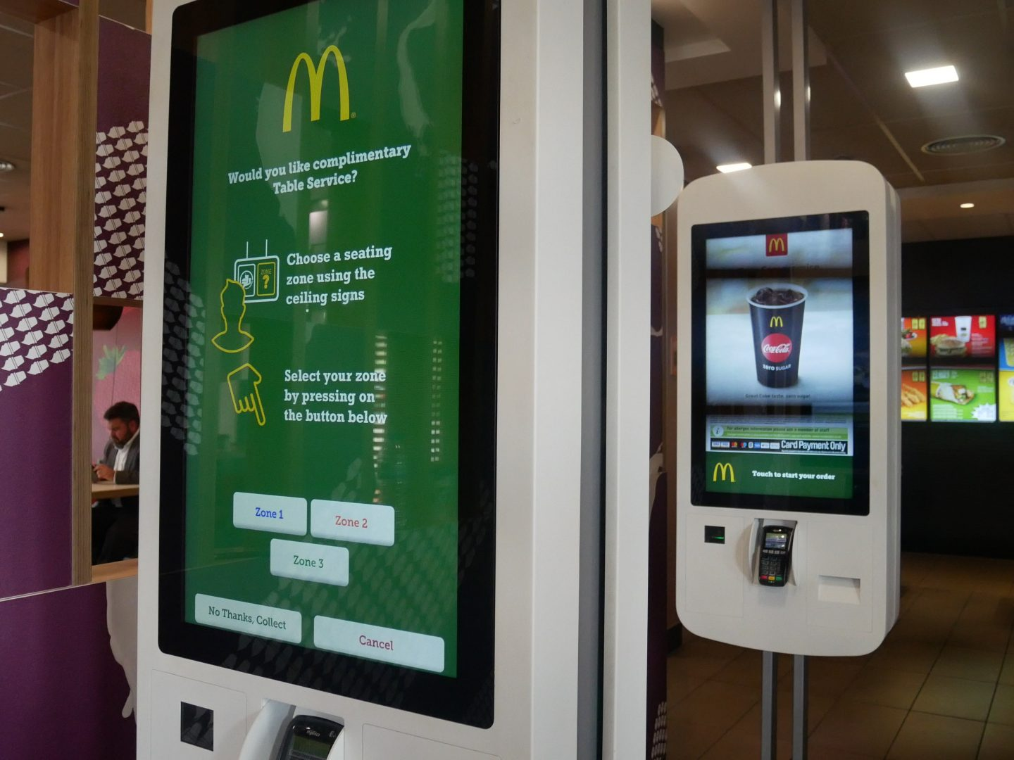 Ordering McDonald's Table Service using the kiosk
