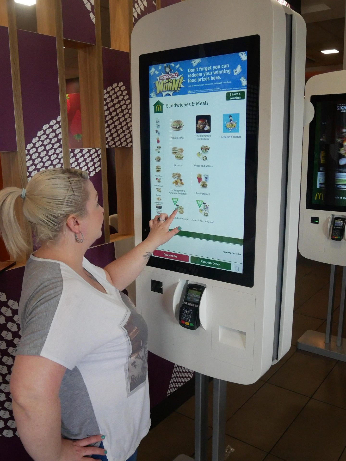 Ordering McDonald's Table Service at the Digital Kiosk