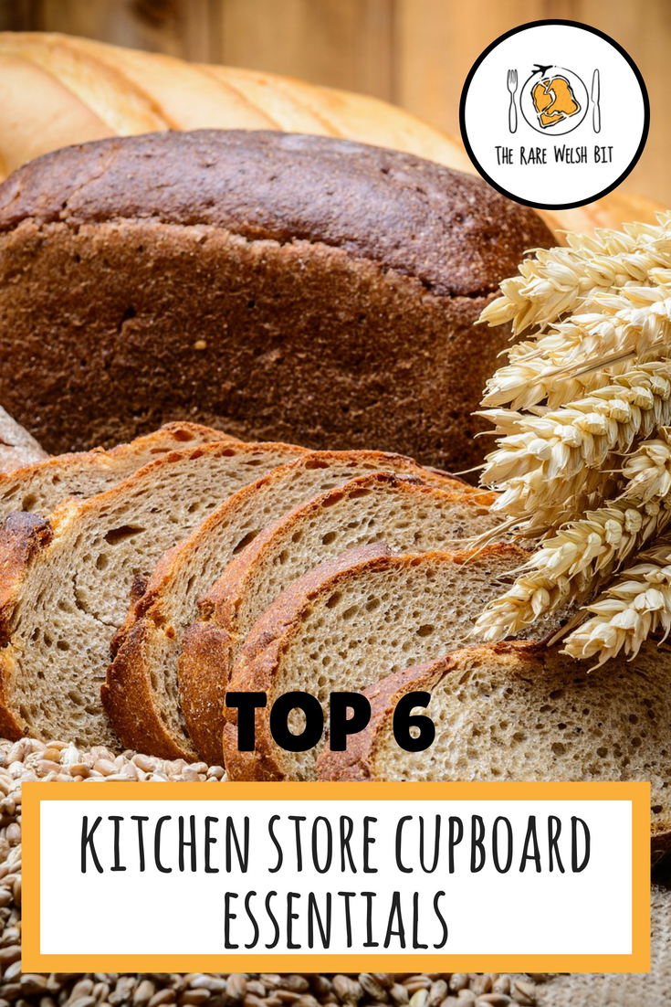 6 store cupboard essentials to fill the shelves and spice racks of your kitchens and pantries - don't go grocery shopping without taking this basic shopping list! #kitchenessentials #pantryessentials #storecupboardessentials #shopping list