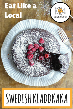 Discover how to make authentic Swedish kladdkaka (sticky chocolate cake) in this tasty kladdkaka recipe from a local - includes a gluten-free version! #kladdkaka #swedishcake #chocolatecake #stickycake