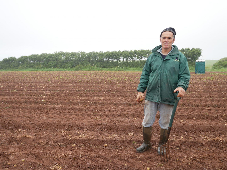 Farmer, Will Richards of Windmill Farm in Haverfordwest, Pembrokeshire
