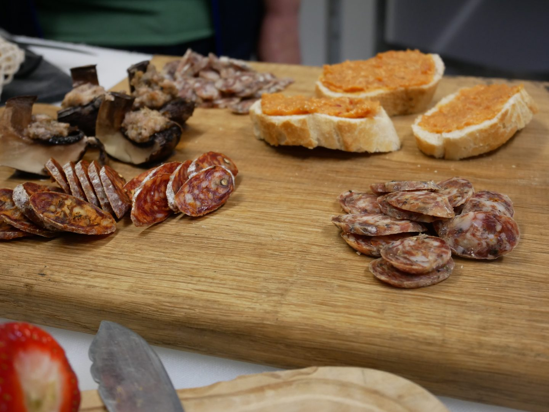 Salami, chorizo and nduja from Cwm Farm