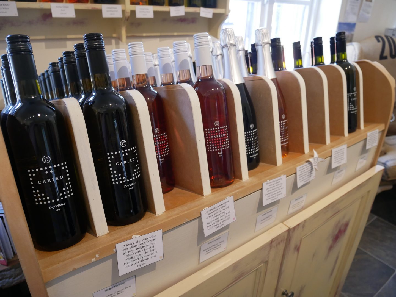 Cariad wines at Llanerch Vineyard