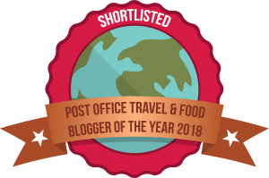 Shortlisted in the Post Office Travel Blogger Awards 2018